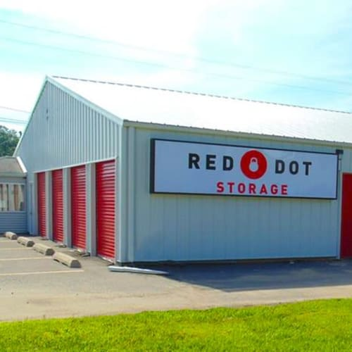 Outdoor storage units at Red Dot Storage in Granite City, Illinois