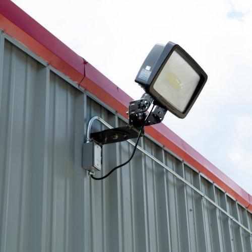 Bright exterior lighting at Red Dot Storage in Wichita, Kansas