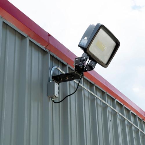Bright exterior lighting at Red Dot Storage in St. Joseph, Missouri