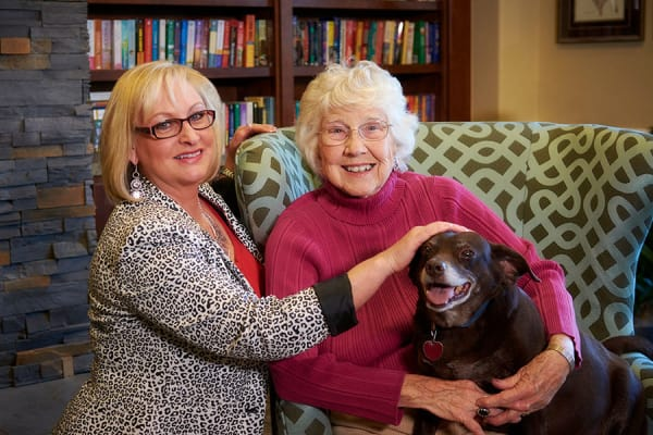 Variety of amenities at senior living community in Denver, CO