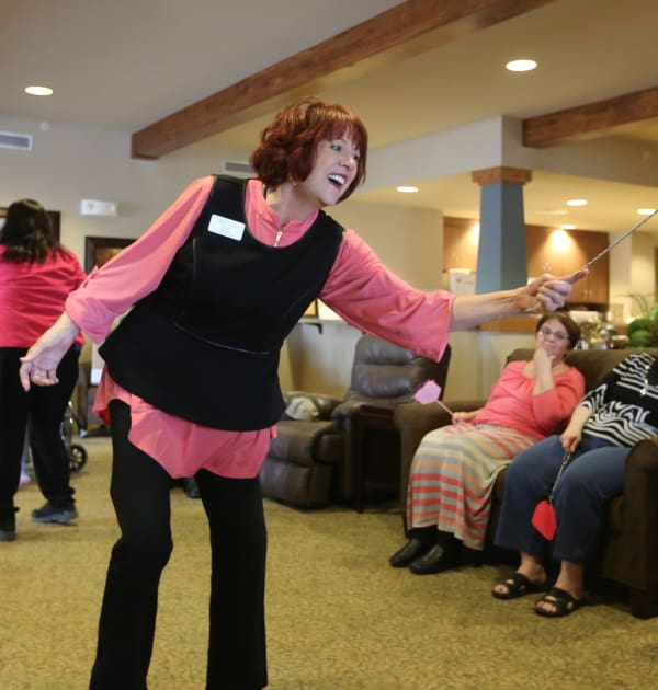 Dancing at The Oxford Grand Assisted Living & Memory Care