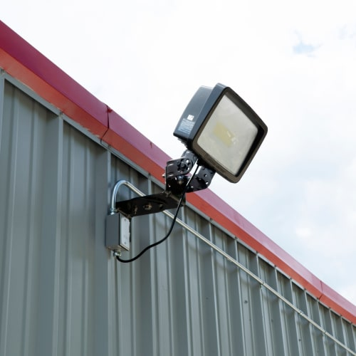 Bright exterior lighting at Red Dot Storage in New Palestine, Indiana