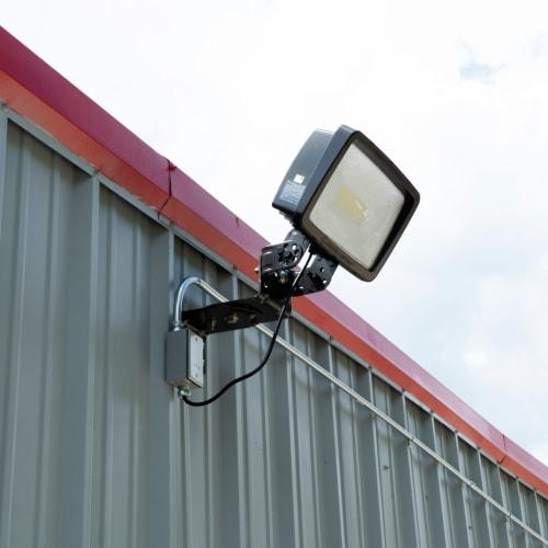 Bright exterior lighting at Red Dot Storage in Heath, Ohio