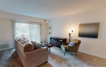 2 bedroom, 2 bath virtual tour for Cedar Gardens and Towers Apartments & Townhomes in Windsor Mill, Maryland
