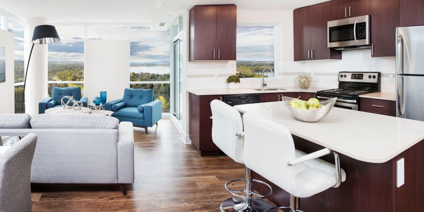 Open floor plans at Elata in Calgary