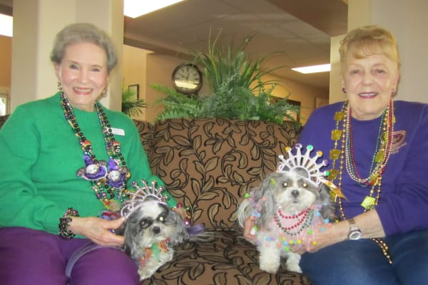 Mardi party at Bella Vista Gracious Retirement Living in Asheville, North Carolina