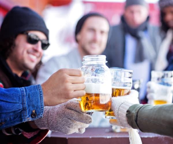 Friends having drink at Elevate at Red Rocks in Lakewood