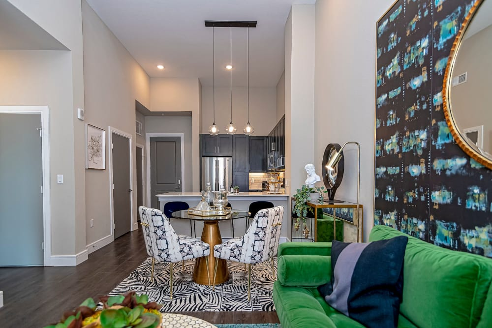 Built-in storage space at Canal1535 in New Orleans, Louisiana.