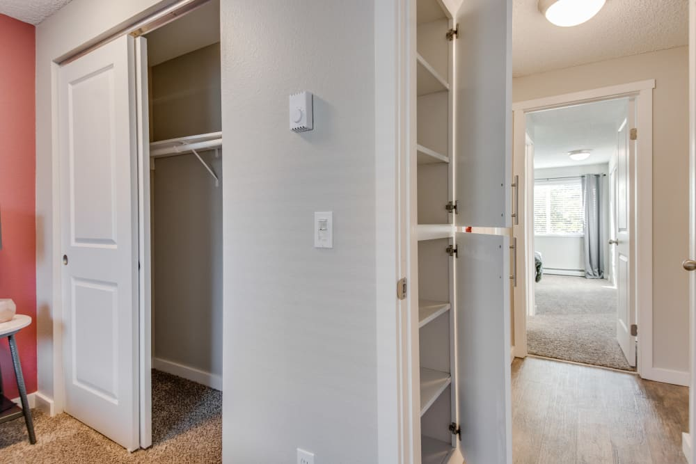 Closet and Shelving unit at Copperstone Apartment Homes in Everett, WA