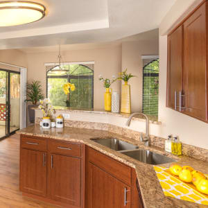 Open kitchen layout at San Antigua in McCormick Ranch in Scottsdale, Arizona